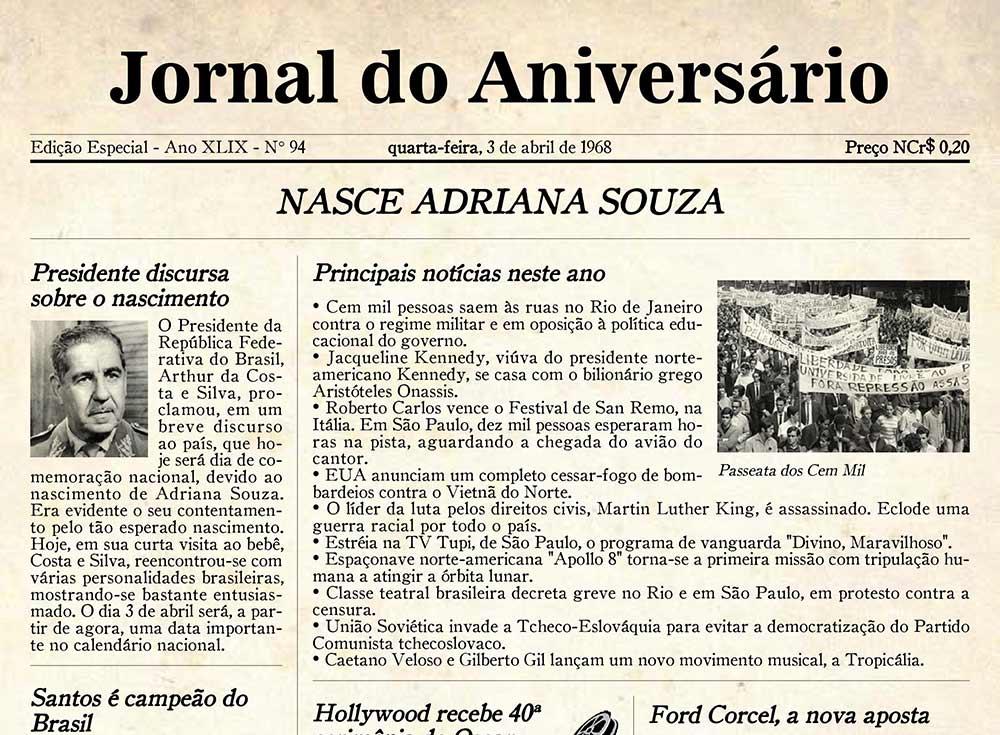 Jornal do Aniversário - Brasil